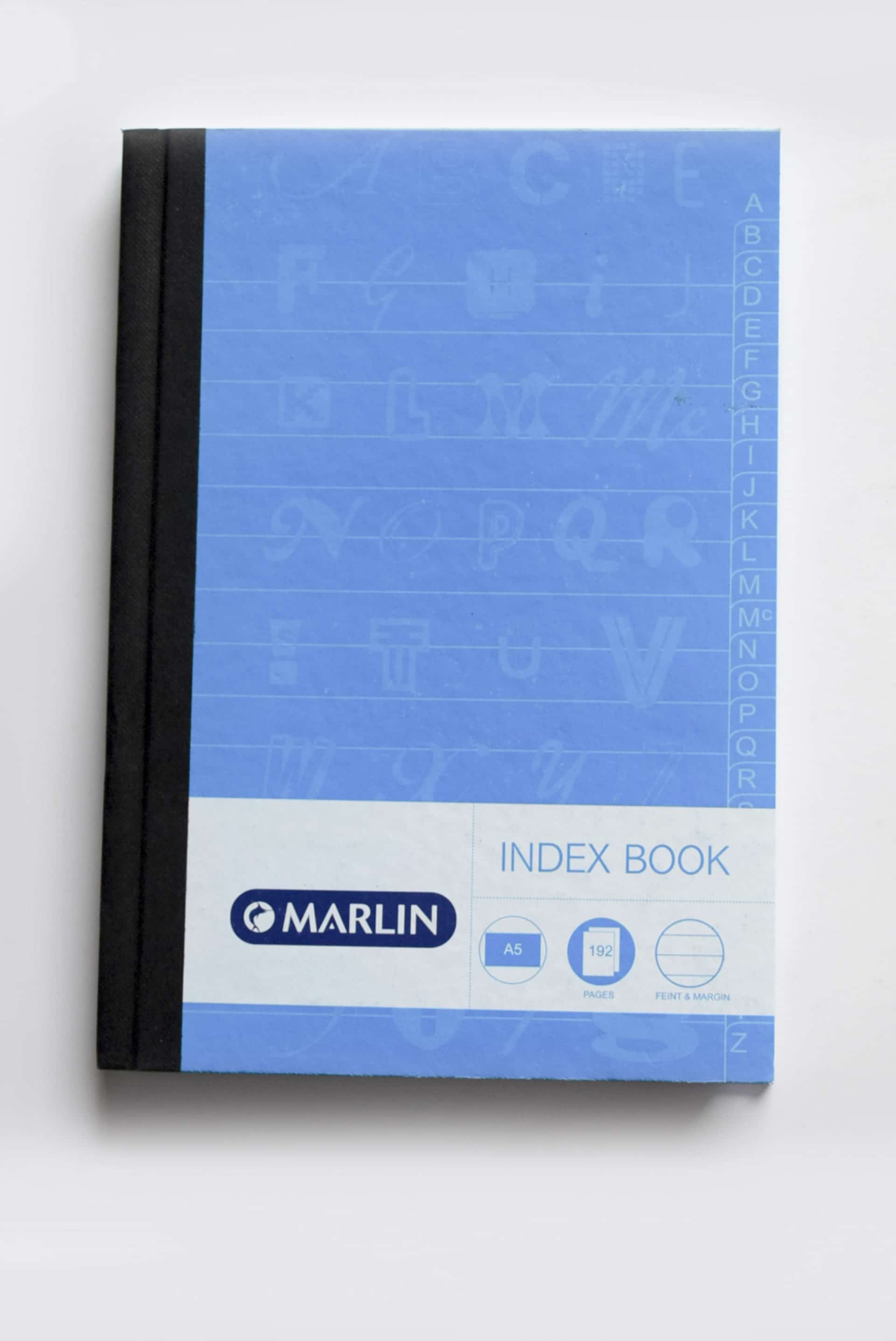 A5 192 Page Index  Manuscript Hard Cover 1