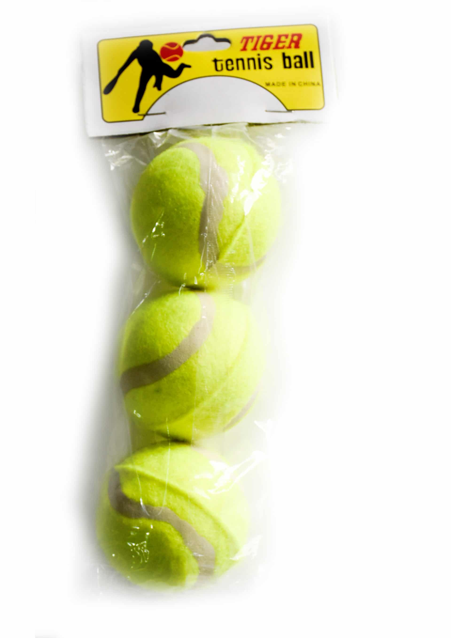 Tennis Balls 3 Pack Budget Type for School Use Only 1