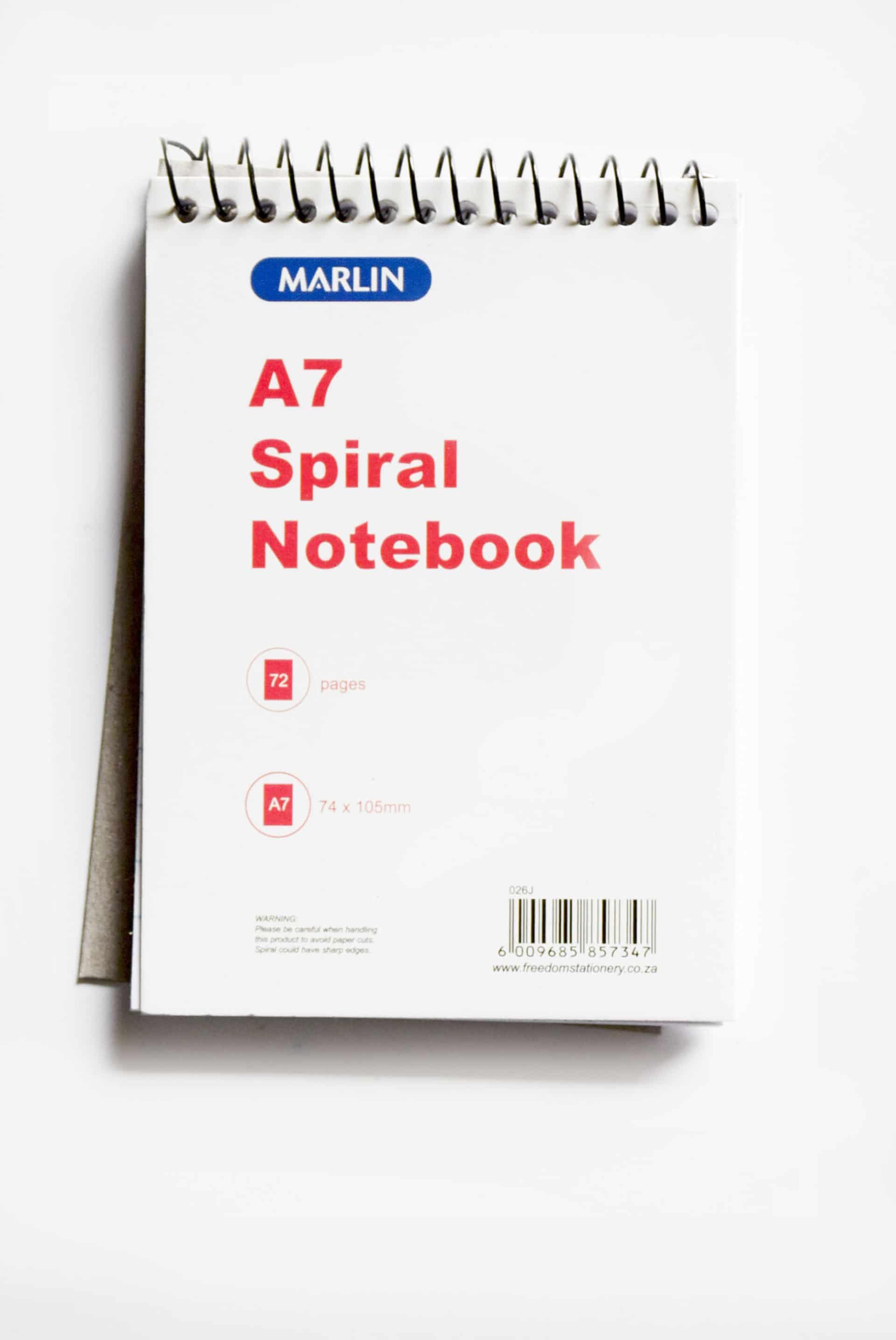 A7 Spiral Note Book 1