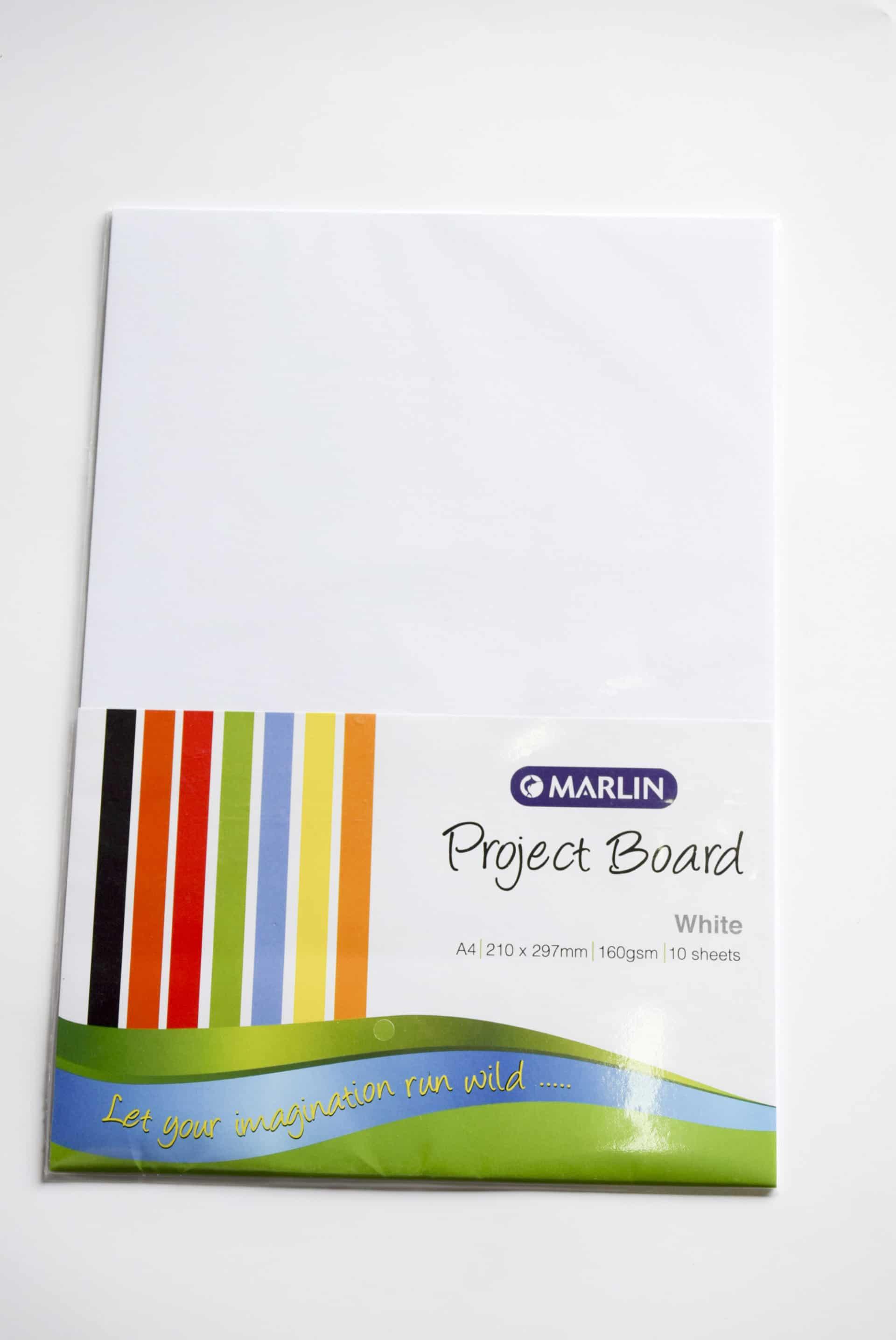 A4 Project Board White 10 Sheet Marlin 1
