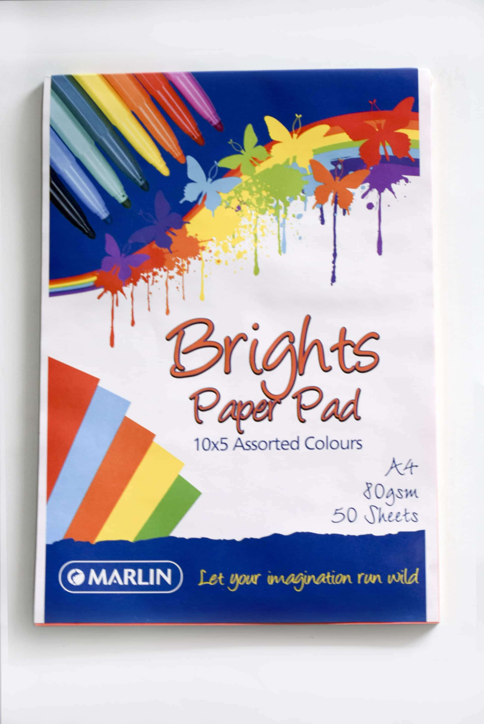 Bright Paper Pad 50's Marlin Assorted Colours 1