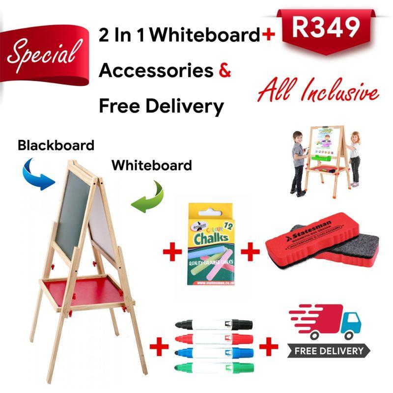 2 in 1 Whiteboard Blackboard